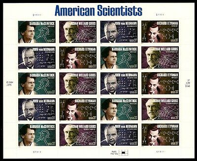 2005- AMERICAN SCIENTISTS #3906-9 Full Mint -MNH- Sheet of 20 Postage Stamps