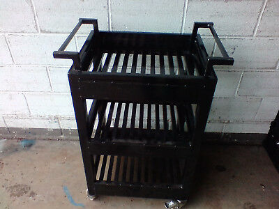 Industrial steel tray trolley heavy duty