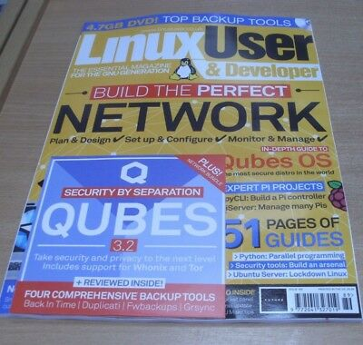 Linux User & Developer magazine #189 2018 Build the Perfect Network +  DVD