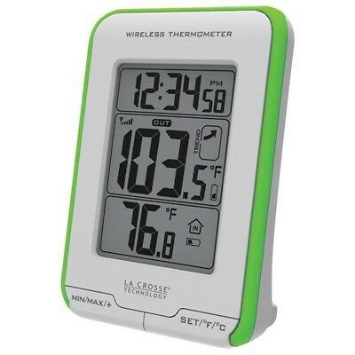 LA CROSSE TECHNOLOGY 308-1410GR Digital Indoor/Outdoor Thermometer