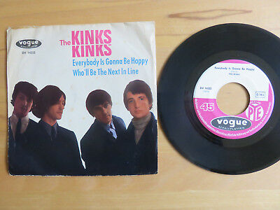 BEAT - SINGLE   60er  Jahre     KINKS     Everybody is gonna be happy    D-Vogue