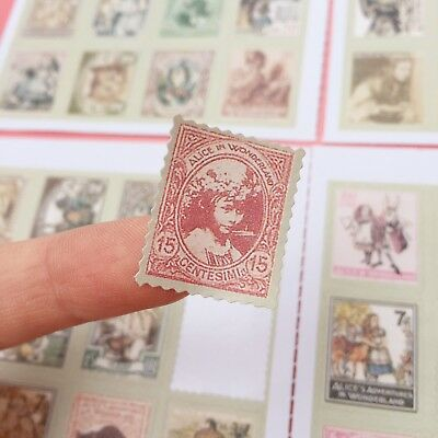 80x Vintage Ephemera Style Stamp Stickers Cardmaking Scrapbooking Craft 4 SHEETS