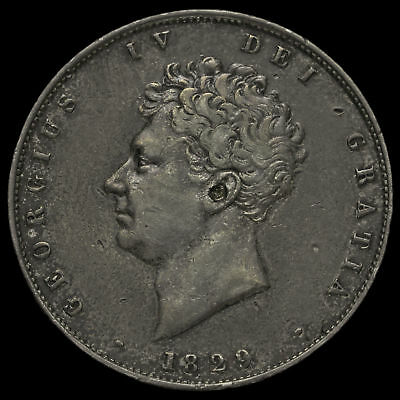 1829 George IV Milled Silver Half Crown, GVF