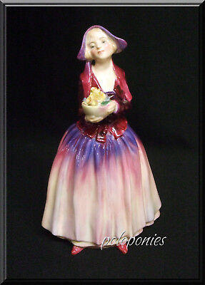 ROYAL DOULTON Dorcas Figurine (applied flowers) HN1558 - Retired 1952