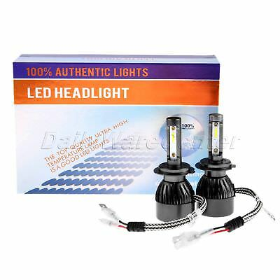 2PCS NEW H7 LED Headlight Conversion Kit High/Low Beam Bulb 16000LM 6000K 80W