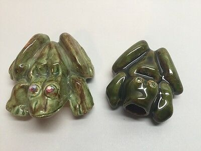 "ANATOMICALLY CORRECT GREEN "" NAUGHTY FROGS"" VINTAGE Boy & Girl Rhinestones W18"