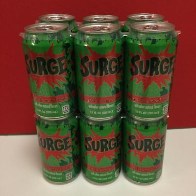 12 NEW Surge Soda Pop Drink Limited Edition Full Unopened 12 oz Can by Coca Cola
