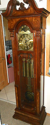 Vintage Charles R. Sligh Clocks Grandfather Clock - Gorgeous - Works Perfectly