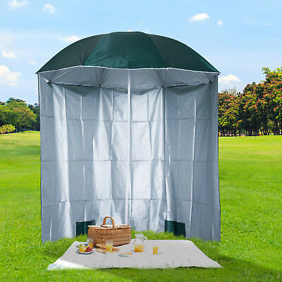 Outsunny 7.2u0027 Outdoor Beach Sun Umbrella Patio Shelter Parosol With  Removable