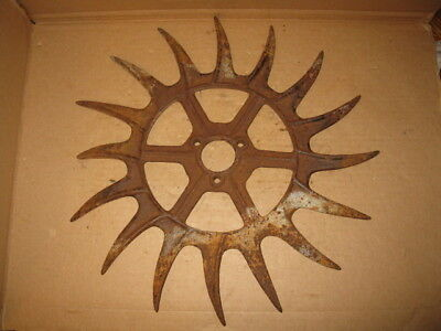 Antique Iron Wheel  Sunflower Sun Star Steam Punk Gear Rustic Decor Ihc