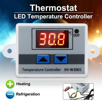 12V/24V/220V Digital LED Temperature Controller Thermostat Control Switch Probes