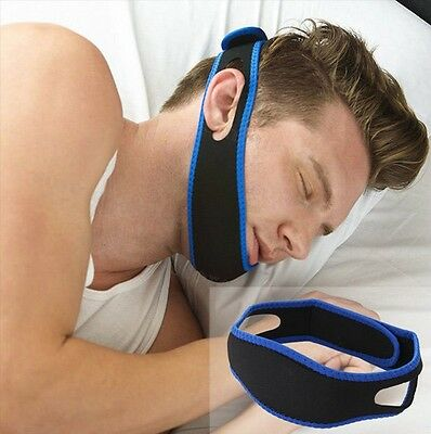 AU Anti Snoring Chin Strap Belt Stop Snore Device Sleeping Jaw Support Solution