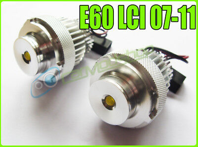 For BMW 5 Series Halogen Headlights E60 E61 Lci 20W Cree LED Angel Eye Upgrade