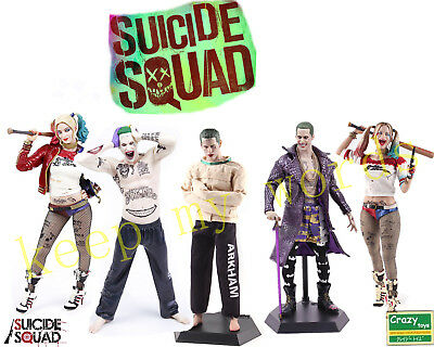 "12"" Crazy Toys Suicide Squad Flim Harley Quinn real Clothes & Joker 1/6TH Figure"