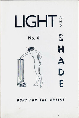 LIGHT and SHADE:Issue No.6 ca.1957-Classic Glamour/Art studies by Russell Gay