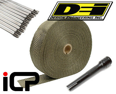 "DEI Titanium Heat Exhaust Wrap, Stainless Ties & Tool Kit 2""x100FT Roll"