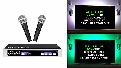 Vocopro HD-OKE Karaoke Microphone System 4 ipad/iphone/Android/Laptop/TV+LED's
