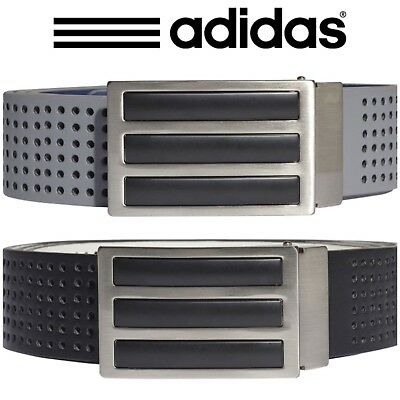 Adidas Golf Mens 2018 3 Stripes Reversible Perforated 2-in-1 Belt
