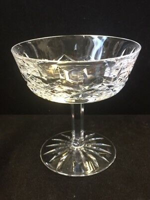"""Vintage Waterford Crystal """"Lismore"""" Champagne  Glass /saucer  4 1/8"""""""