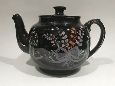 World War II Teapot Made In England Escorted To US By Allied Fleets Hand painted