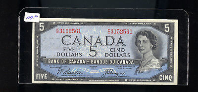1954 Bank of Canada $5 Devil's Face Beattie Coyne EF or better BL3133