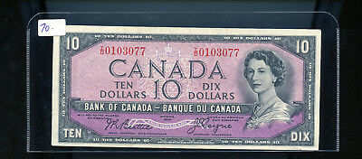 1954 Bank of Canada $10 Devil's Face Beattie Coyne EF or better BL3141