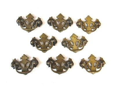 Vintage 8 Drop Handle Drawer Pulls Cabinet door hardware metal Allison japan lot
