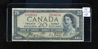 1954 Bank of Canada $20 Devil's Face Coyne Towers VG or better BL3143DW