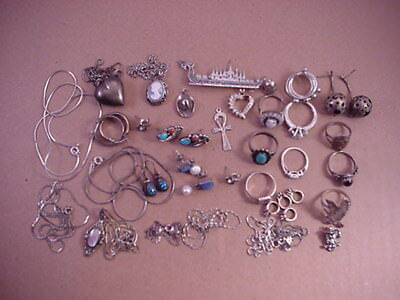 111 gram lot of mixed Sterling Silver (925) Jewelry wear or scrap