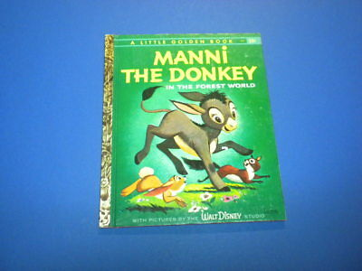 MANNI THE DONKEY IN THE FOREST WORLD Little Golden Book 1959 First Printing (A)