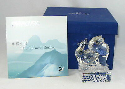 "Swarovski Crystal CHINESE ZODIAC Figurine ""ROOSTER"" In Original Box With COA"
