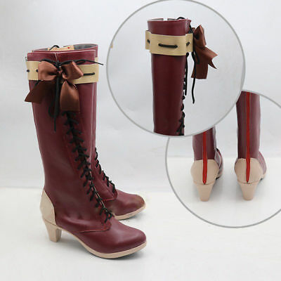 Anime Violet Evergarden Violet Auto Memory Red Boots Shoes Cosplay Costume