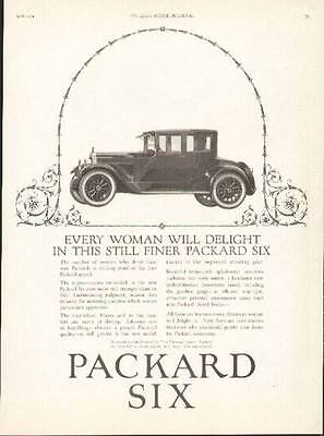1924 Packard Six 4-passenger Coupe ad