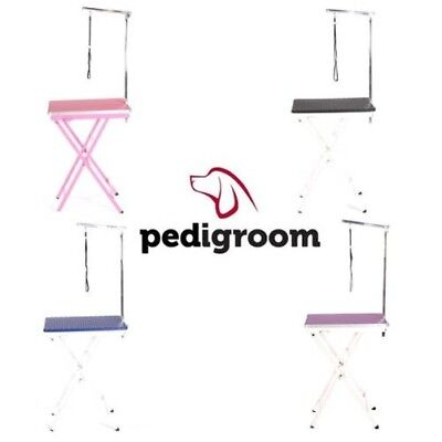 TOILETTE DE CHIEN TABLE AVEC BRAS par pedigroom mobile portable Exposition usage