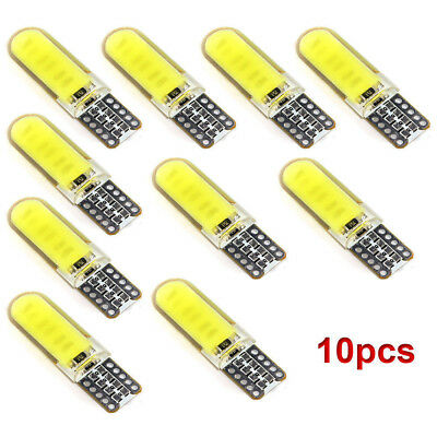 10pcs T10 W5W 6W LED Car Interior Light COB Bulb Wedge Parking Dome Light White