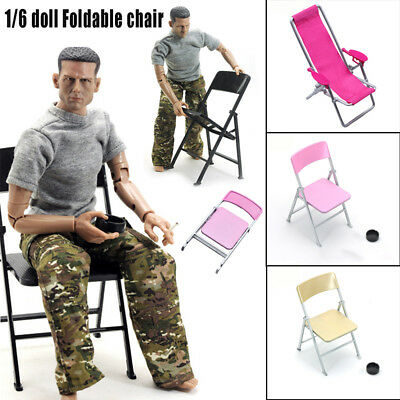 1:6Folding Beach Chair for BJD barbie Doll Action Figure man Accessories Kid Toy