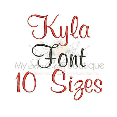 IMFCD24 BLOCK ALPHABET FONT MACHINE EMBROIDERY DESIGNS 10 SIZES