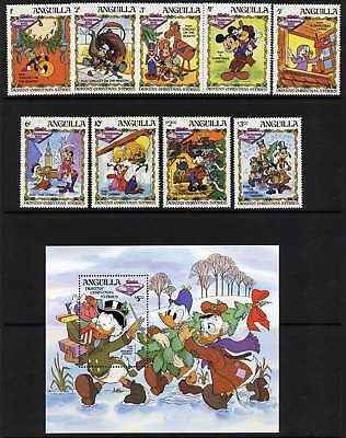 Anguilla 547-56 MNH Disney, Dickens Christmas Stories