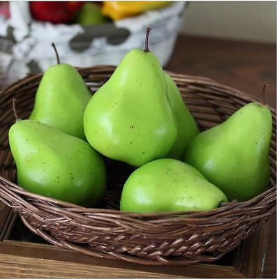 Lifelike Artifical Imitation Pear Plastic Fake Fruit Mould Props Home Decor