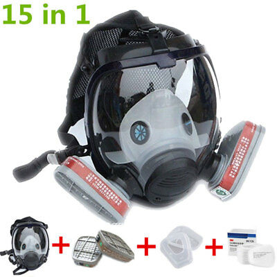 15in1 Full Face Mask For 3M 6800 Facepiece Respirator Similar Painting Spraying