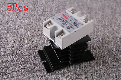 Solid State Relay SSR-25DA Model DC3-32V Input AC24-380V Output + Heat Sink Kit