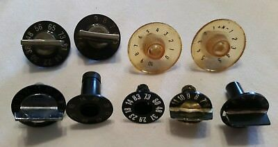 9 Various Bakelite Radio Knobs for Tube Radio, HAM, Car or Other