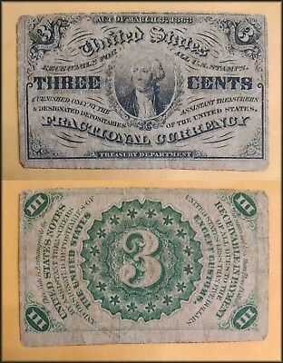 Fractional Currency 3 cent note