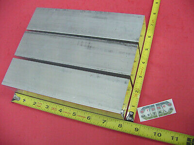 "3 Pc 2"" X 2"" ALUMINUM 6061 SQUARE FLAT BAR 8"" long T6511 Solid 2.00"" Mill Stock"