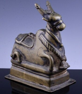 Auth. 15Thc Indian Bronze Figure Of Nandi Bull Of Shiva Maharukh Desai London