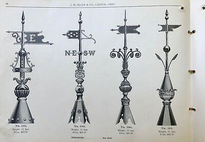 Rare Vintage 1890's Architectural Hardware Catalog Tin Ceilings-Weather Vanes-Co