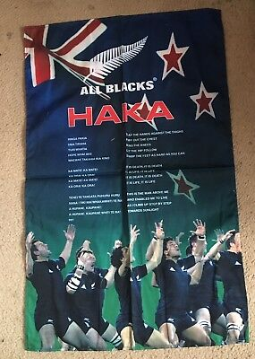 New Zealand Rugby Union All Blacks Haka Tea Towel Brand New