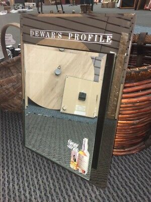 DEWARS PROFILE Bar Mirror Scotch Whiskey Whisky Sign 3D Sign Glass Decor Mancave