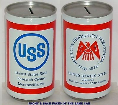 Canning Co Beer Can Uss United States Steel Bicentennial Monroe,pennsylvania