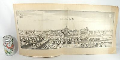 Antique 1654 Map CELLE CASTLE German Engraving MATTHAUS MERIAN Kingdom Hanover